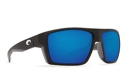 New! COSTA DEL MAR Bloke Polarized Sunglasses Matte Black Blue Mirror 580G