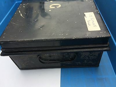 Vintage Metal Deed Box  Safe  Storage England