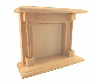Lot of 6 Pack Miniature Unfinished Wood Fireplace Dollhouse & Shadow Box Crafts