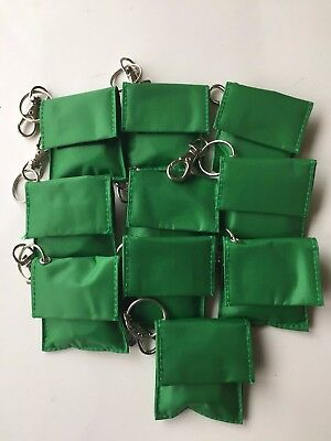 10 x RESUSCITATION CPR FACE SHIELD IN KEY FOB POUCH - EMERGENCY MOUTH TO MOUTH