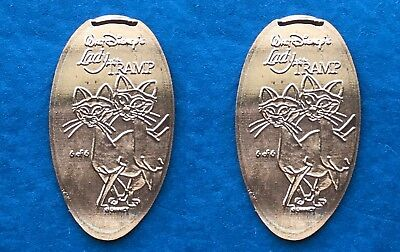 Disney World Si & Am Pressed Penny WDW Lady & Tramp Siamese Cats Copper Token #6