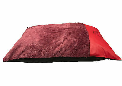 New Comfy Fur Wrax Luxury Leather Dog Bed Washable Zipped Mattress Cushion