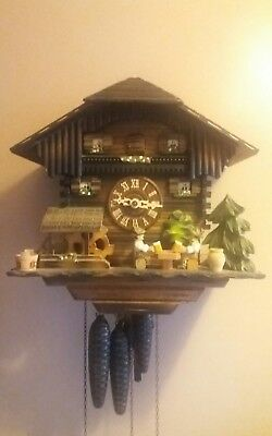 Animated cuckoo clock ,Musical ,Beer Drinkers , Cuckoo Clock working condition
