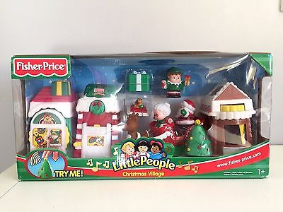 RARE BNIB Fisher Price Little People Christmas Village Musical Christmas Tree