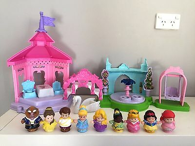 Fisher Price Little People Seven Disney Princesses Interactive Garden Tea Party