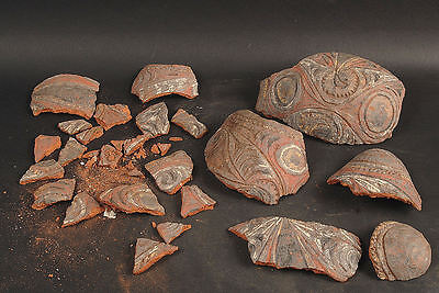 22 Pieces Of A Broken Piece Of Pottery  From Papua New Guinea