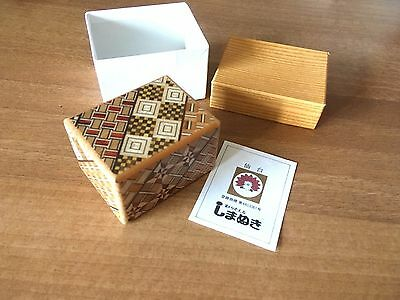 JAPANESE INLAID WOODEN PUZZLE BOX SECRET OPENING + music box my friendly totoro