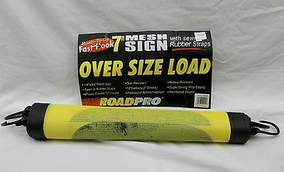 "FAST HOOK 7' MESH OVER SIZE LOAD SIGN 18"" x 84"" WITH PLASTIC COATED ""J"" HOOKS"