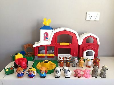 Fisher Price Little People Animal Sounds Big Red Farm Barn Playset