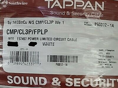 Southwire/Tappan P60012/580075 14/3C Stranded Plenum Control/Alarm Cable/100ft