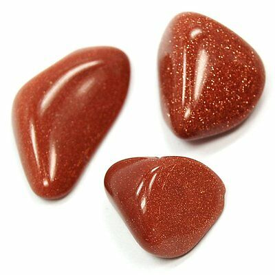 """Lot of 3 LARGE GOLDSTONE Crystals GEMSTONES Large 1"""" to 1 1/4"""" INCHS"""