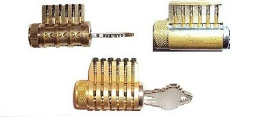 Cutaway Lock Set  Of 3, Locksmith Training, Sales Aid, All Brass