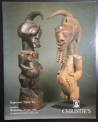 Auction Catalogue Christie's London Tribal Art June 29, 1994 Oceanic African