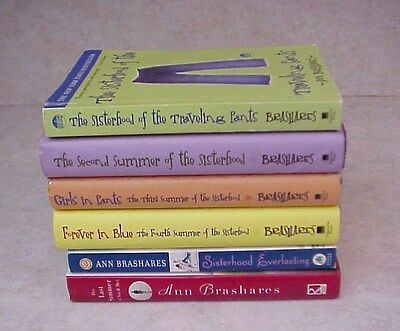 LOT OF 6 ANN BRASHARES / Sisterhood of the Traveling Pants 1 - 5 and Last Summer