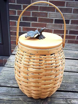 Longaberger October Fields Basket With Lid And Protector