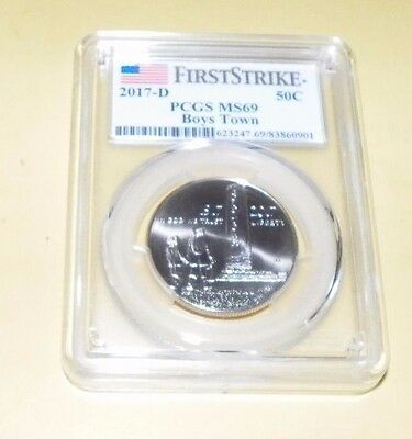 2017 D 50C Boys Town Uncirculated Commemorative PCGS MS69 First Strike
