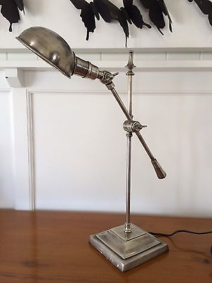 Industrial French Classic Metal Lamp With Metal Shade