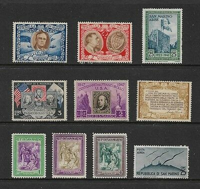 SAN MARINO - mixed collection, 1947 issues