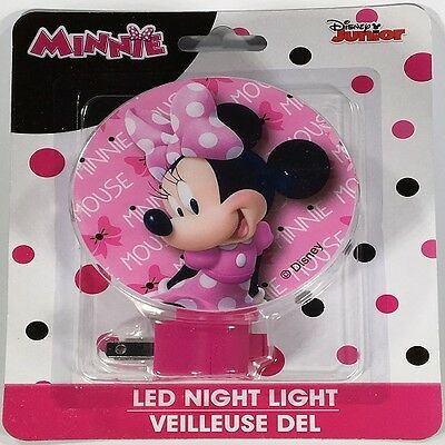 New! Disney Minnie Mouse Girl's Night Light With Bulb