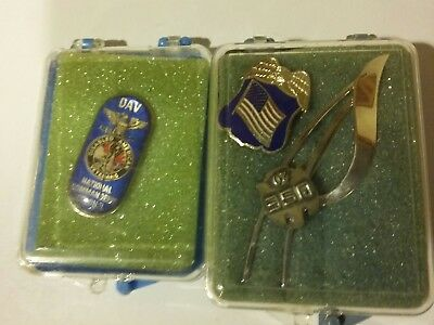 nice lot of 3 vintage military pins brooches,  enamel