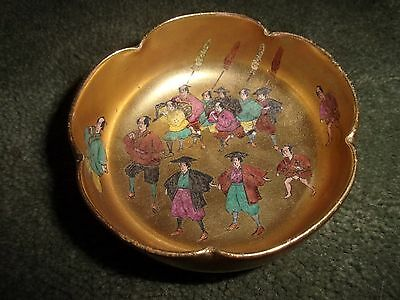 Handpainted KOSHIDA KYOTO Gold Gilt Tea Bowl c.1900 Outstanding Detail Japan