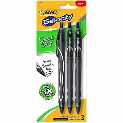 BIC Gel-ocity Quick Dry Medium Point Retractable Gel Pen, Medium Point (0.7mm),