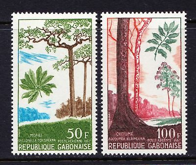 GABON 1967 Trees - Two MNH values - Cat £7.45  - (64)