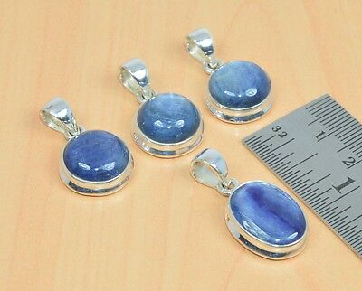 Wholesale 4Pc 925 Solid Sterling Silver Natural Blue Kyanite Pendant Lot