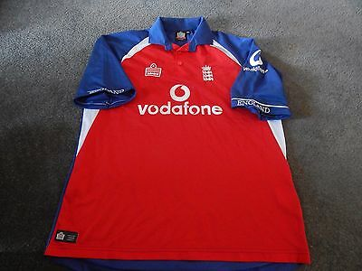 England Cricket Shirt Admiral Size On Tag Xl Plus Ashes Cap