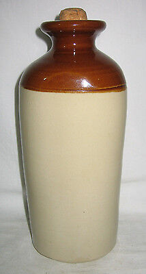 Three Sides Stone Ware Hot Water Bottle  Australian Pottery
