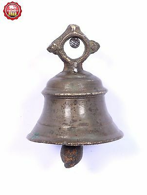 Antique Old Handcrafted Home Decorative Brass Ritual Bell, Good Sound. G70-82