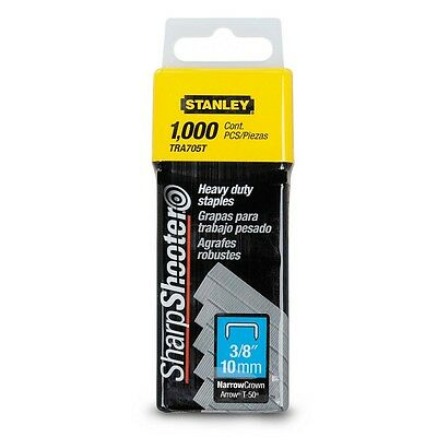 3 BOXES STANLEY 1000pce 10mm Heavy Duty Staples