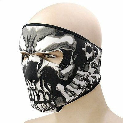 Winter Neoprene Motorcycle Skiing Snowboard Paintball Warmer Full Face Mask AU