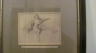 Sir William Russell Flint , Two lithographs one of, JUNE , and the other BRUNETT