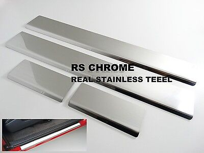 Dodge Nitro Chrome Door Sill Scratch Scuff Cover 2006-2013 Stainless Steel