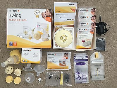 MEDELA Swing Mothercare Essentials Pack Electric BREASTPUMP + All Accessories!