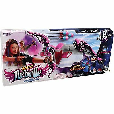 Nerf Rebelle Agent Bow Blaster Pink New Toy Ages 8+ Girls Boys Play Gift Fight
