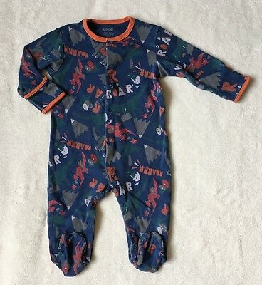 ***Mamas and Papas baby boy Dino sleepsuit 6-9 months***