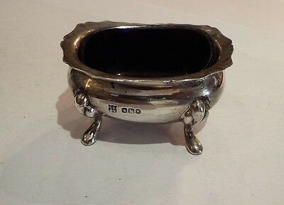 Vintage English Hallmarked Silver Mustard Pot