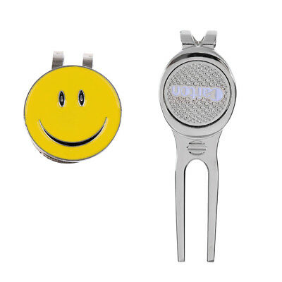 Pro Golf Green Divot Repair Tool with Hat Clip Ball Marker Alloy Golfer Gift