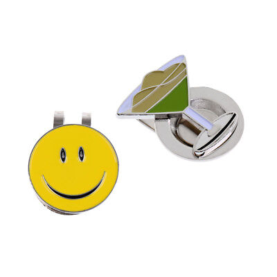 2Pcs Magnetic Ball Markers with Golf Hat Clip Alloy Golf Gift Accessories