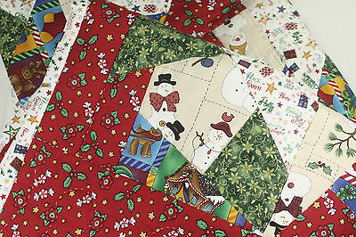 Handmade, Hand Pieced, Hand Quilted, Crazy Patch Patchwork Christmas Quilt