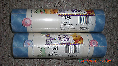 winnie the pooh, pre pasted wall border (sunworthy)8 1/8 x 10yards/2 rolls
