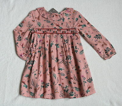 ***BNWT Next baby girl Pink Pretty Collar ditsy dress 3-6 months***