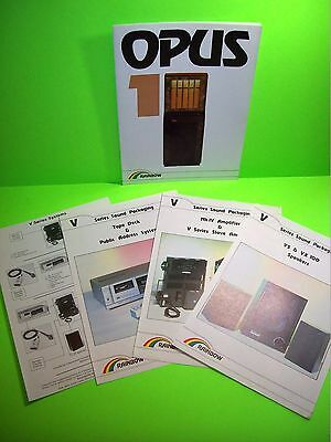 Rainbow OPUS 1 Original Jukebox Phonograph Music Promo Sale Flyer + Audio Flyers