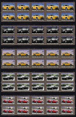 2009 Nissan 370Z Set Of 5 Mint Sportscar Stamp Strips