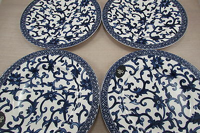 Ralph Lauren China MANDARIN BLUE Salad Plates - Set of Four