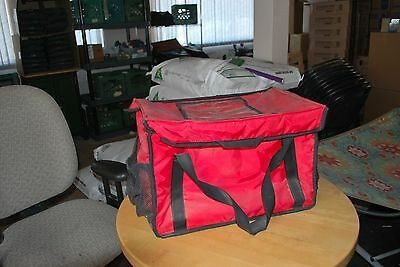 """RediHeat HEATED Food Delivery Bag, Red, 20"""" x 20"""" x 13"""" - great condition!"""