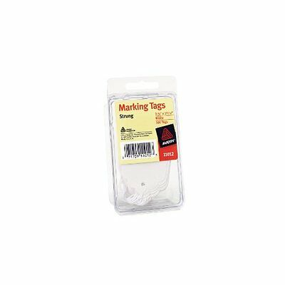 Avery Marking Tags Strung 2.75 x 1.68 Inches White Pack of 100 11012