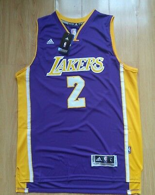 NBA Lonzo Ball 2 Los Angeles Lakers PURPLE Throwback Swingman Jersey Men NWT New